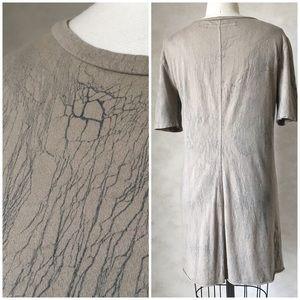 ENZA COSTA CRACKLE PRINT T-SHIRT TUNIC/DRESS